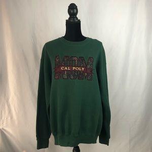 Cal Poly Mom Forest Green Crewneck Sweatshirt